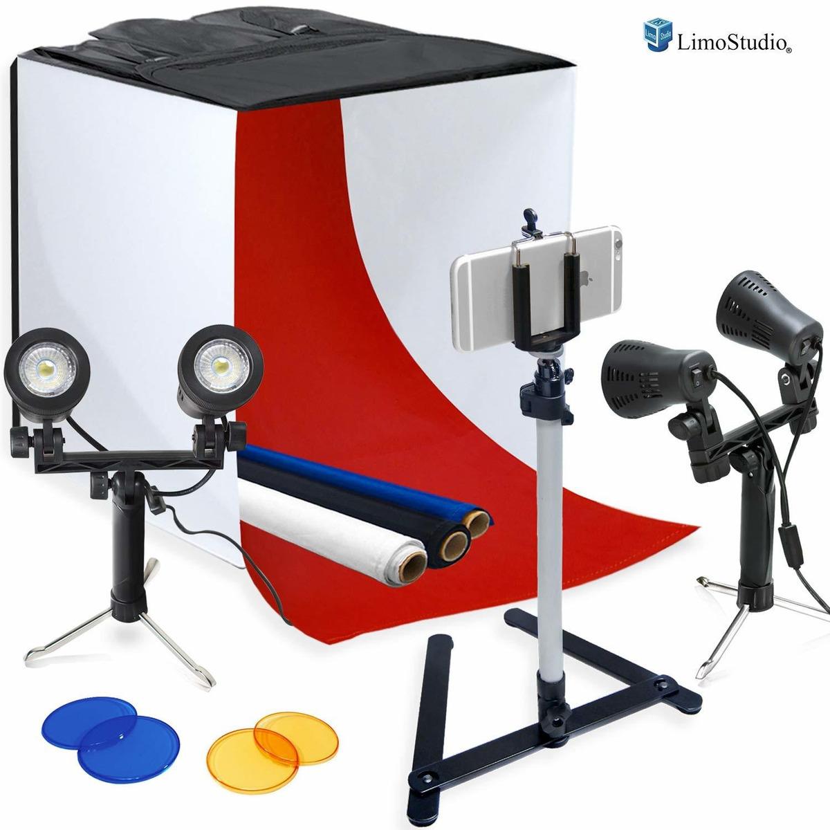 Foto luz carpa estudio fotográfico fotobox móvil foto carpa plegable con LEDs fondos 2