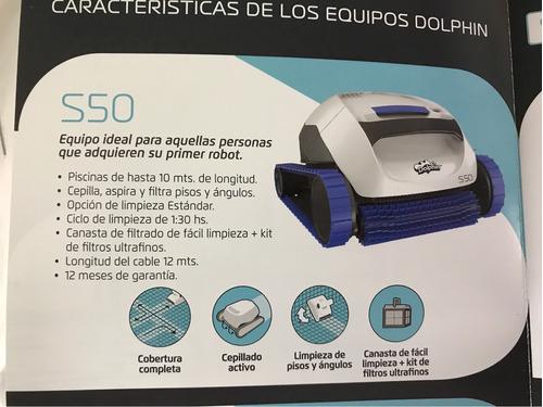 limpiador automatico robot dolphin s50 para piscina