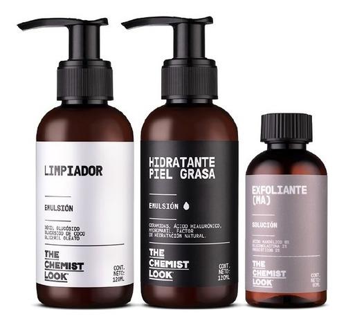 limpiador + hidratante para piel grasa + mandélico 8%