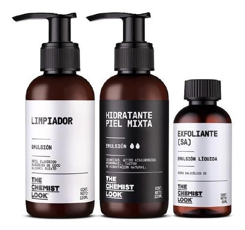 limpiador + hidratante para piel mixta + salicílico 2%