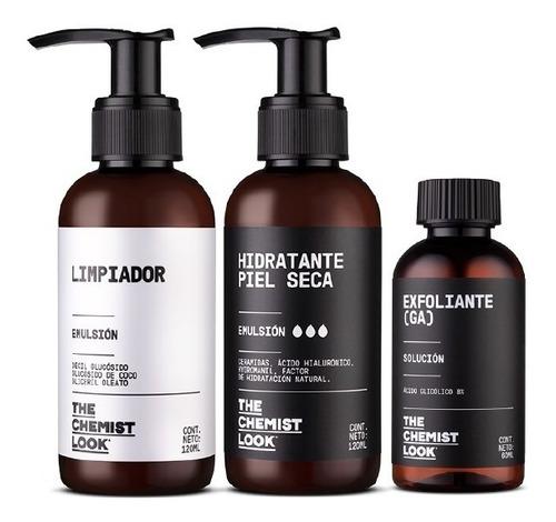 limpiador + hidratante para piel seca + glicólico 8%