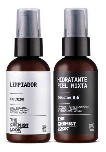 limpiador + hidratante piel mixta 60ml - the chemist look