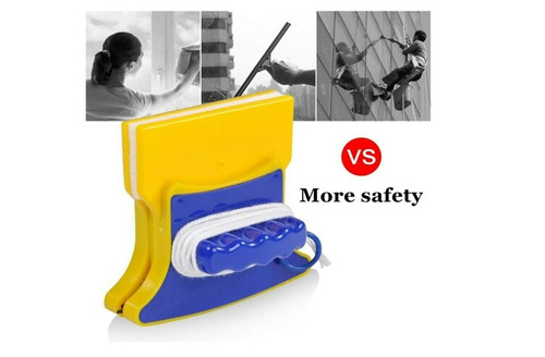 limpiavidrios magnetico practico  aparato de facil uso