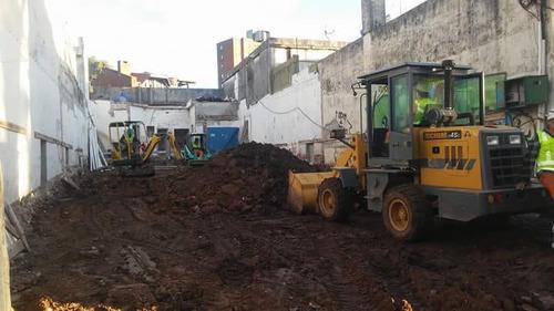 limpieza de terreno, excavaciones y demoliciones
