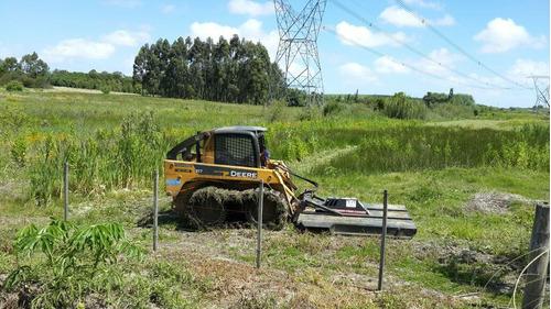 limpieza de terrenos, limpieza de campos, maquinaria