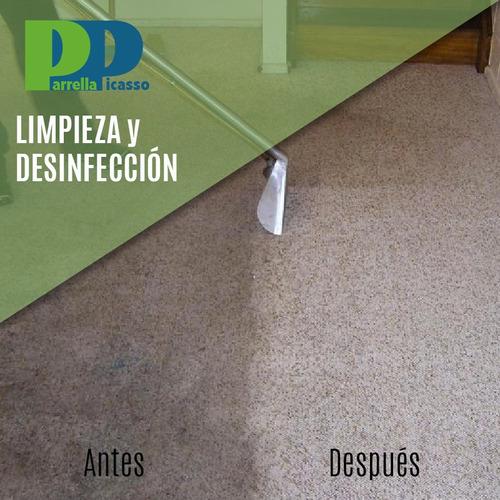 limpieza y desinfección de moquette y alfombras