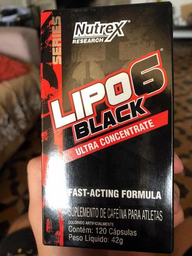 lipo 6 black nutrex 120 cápsulas (envío grátis)
