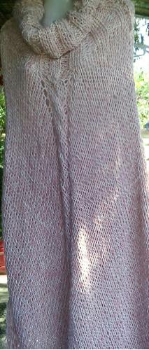 liquido hoy.poncho ideal tejido a mano
