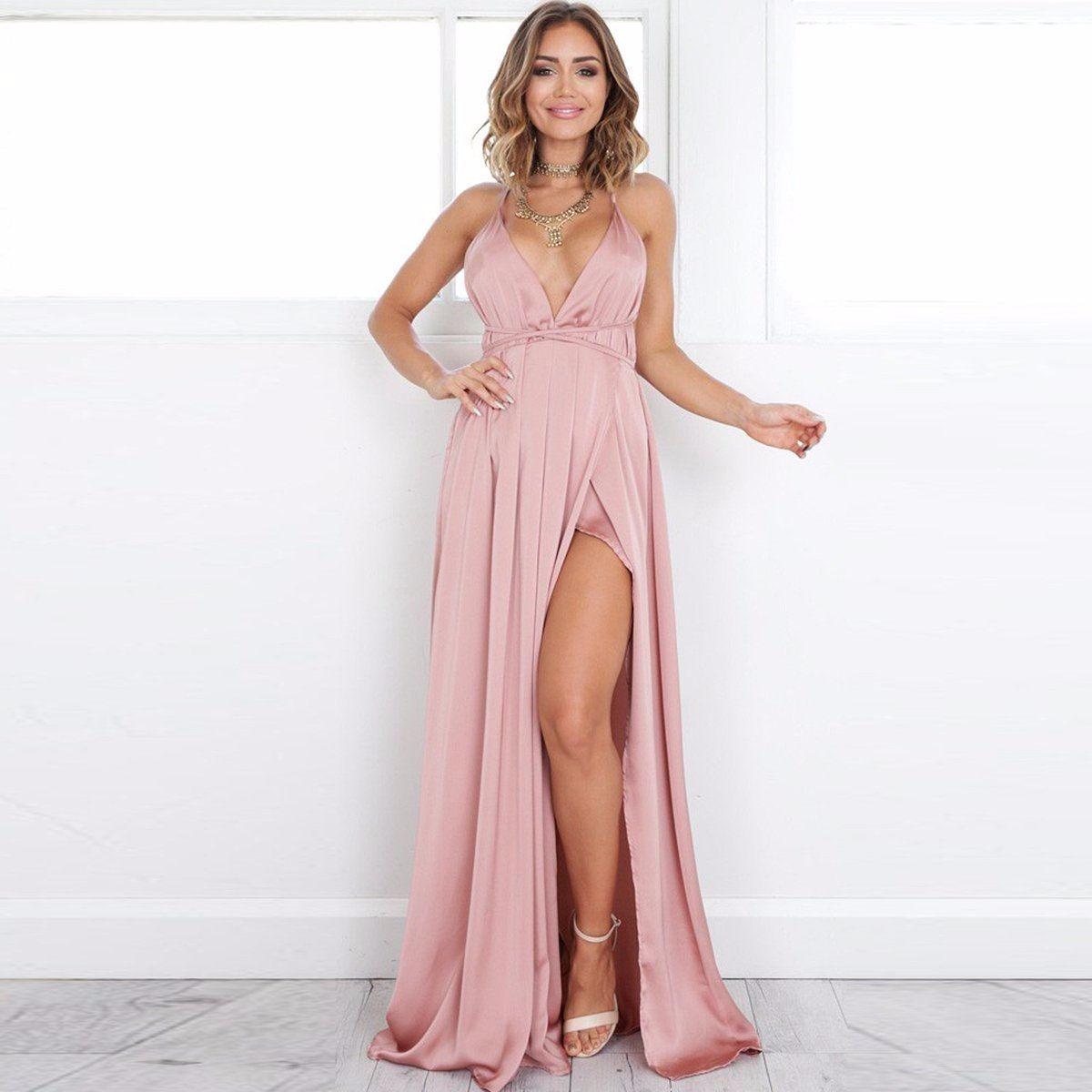 Liquido Vestido De Fiesta Largo - $ 1.000,00 en Mercado Libre