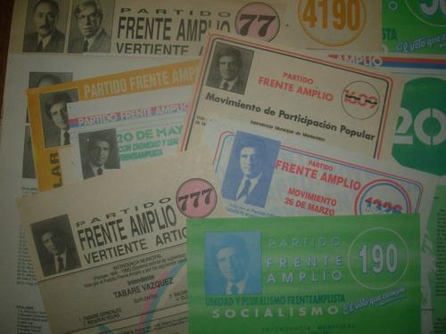 listas elecciones nacionales 1989 - frente amplio