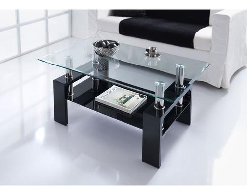 living vidrio mesa