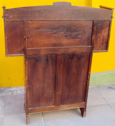 livreiro antigo art nouveau médio madeira de louro entalhado