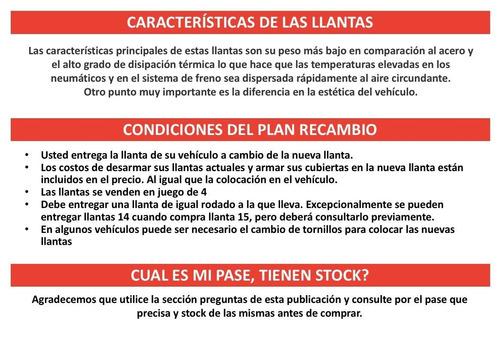 llanta aleación 13  para peugeot plan recambio b13pe400t806c
