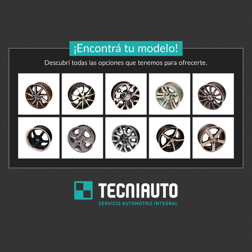 llanta de aleación ruedas argentinas rodado 13 4x108 nitro/a