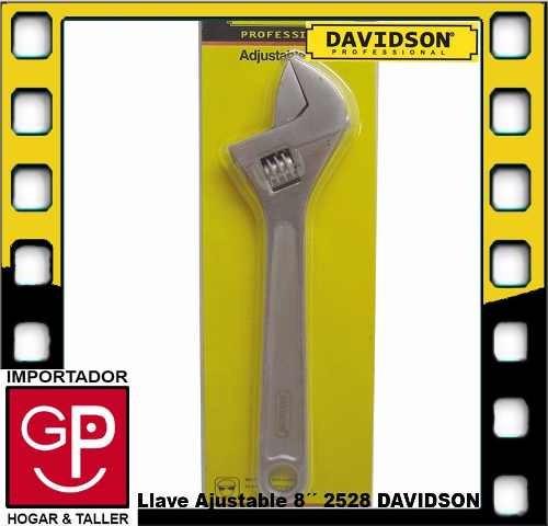 llave ajustable tipo francesa 8´´ davidson