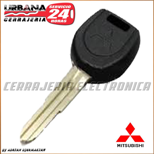 llave codificada con chip mitsubishi cerrajeria urbana