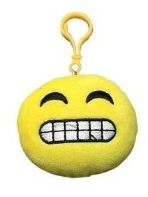 llavero peluche emoji smile 7cm - todo acá