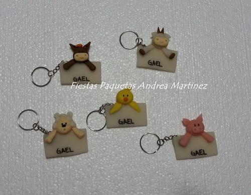 llaveros souvenirs en porcelana campanita, kitty, animalitos