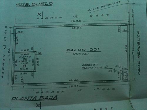 local de vehiculos  con doble entrada y vivienda. con renta