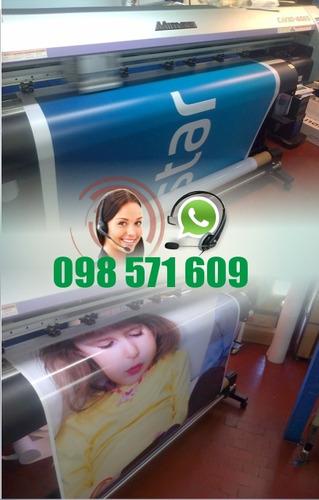 lona cartel banner roll up