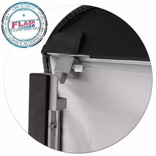 lona estructura de aluminio flash cover force hilux 2016+