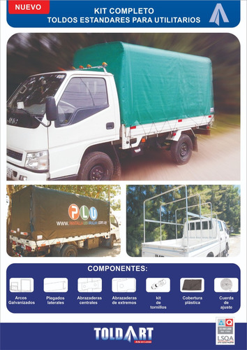 lona y arcos para camiones utilitarios