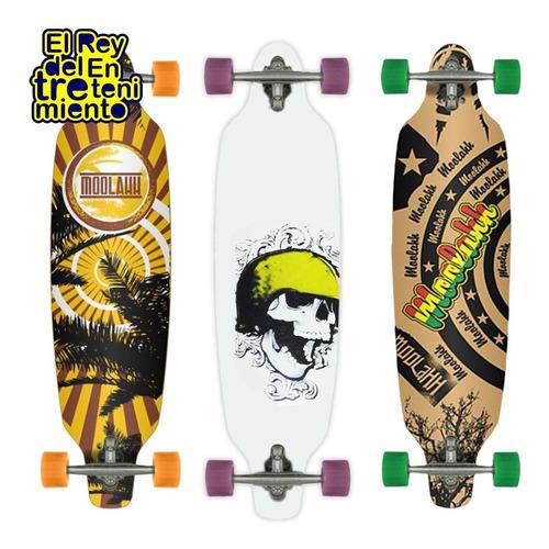 longboard profesional 9capas maple canadiense skate - el rey