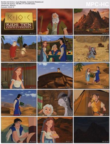 los 10 mandamientos para niños, serie animada. en dvd,latino