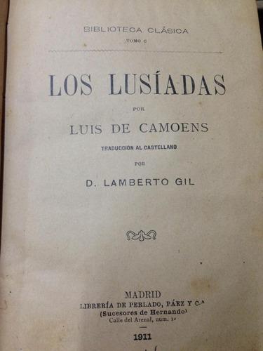 los luisadas por luis de camoens. pasta española