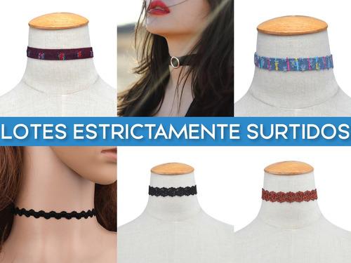 lote 10 collares choker dama mayoreo + envío gratis + remate