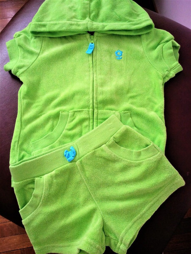lote 2 conjuntos short y remera carters y little lass - 2t