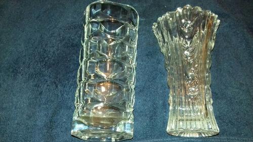 lote 7 floreros antiguos 2 cristal bohemia leer descripción