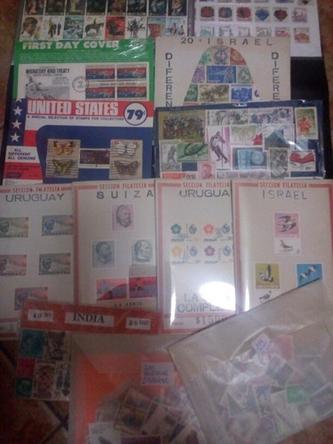 lote con cantidad y variedad de sellos