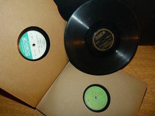 lote de 12 discos vinilo / pasta al azar artesanias subasta