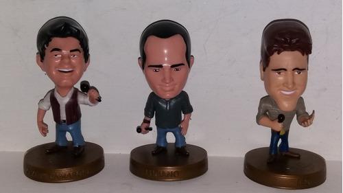 lote de 3 cantantes muñecos 10cm como nuevos coleccionables
