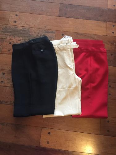 lote de 3 pantalones de vestir de marca y nuevos los 3