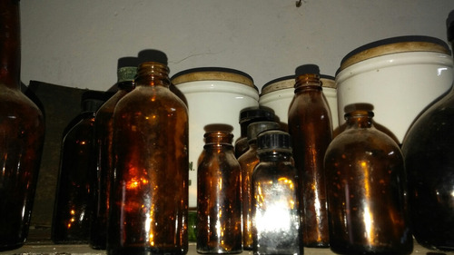 lote de antiguos frascos antiguos