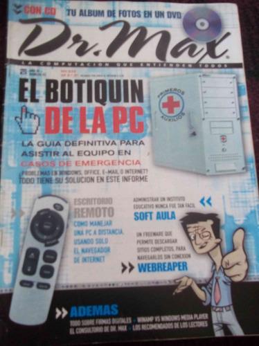 lote de cuatro revistas dr max con cds - 123ventas
