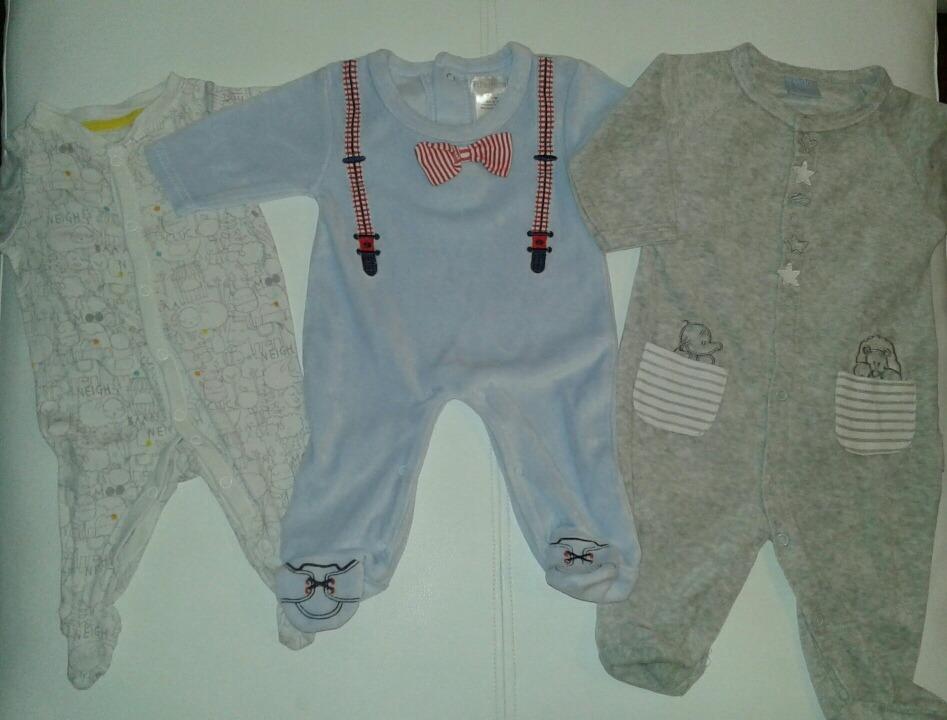 Lote De Enteritos Pijamas Bebe Varon Rn 3 Y 6 Meses Plush -   599 4ba964092320
