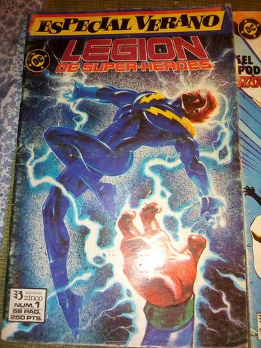 lote de revistas comics legion de super-heroes