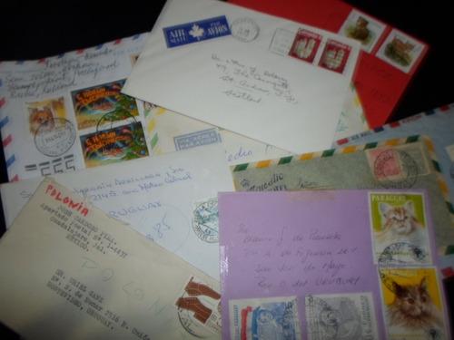 lote de sobres circulados - sellos de varios países