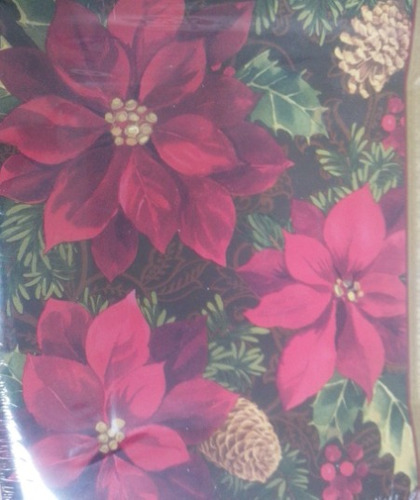 lote decoração festa completa natal red flowers c/ 65 itens
