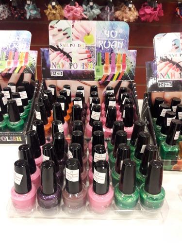 lote x 10 esmaltes varios colores de 16 ml.