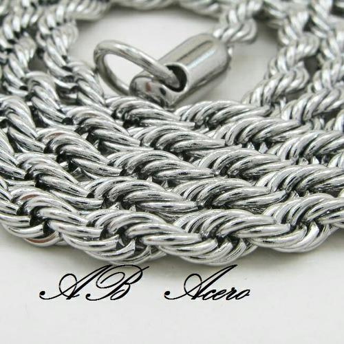lote x mayor 8 cadenas de acero quirúrgico unisex