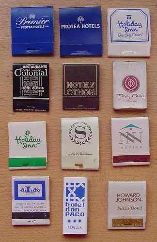 lotes de 5 cajas de fosforos a elegir