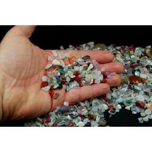 loucura lote com 100 pedras preciosas diversas-frete gratis