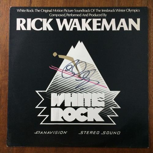 lp autografado - rick wakeman - white rock - raro - antigo