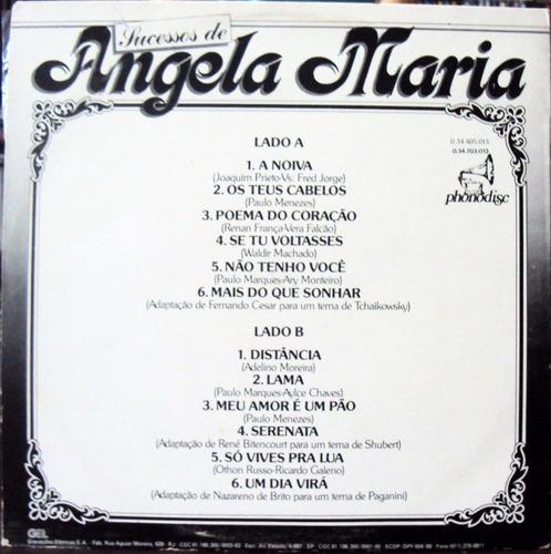 lp vinil - angela maria - sucessos de - 1986