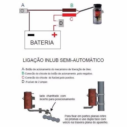lubrificador de corrente para moto in-lub semi-automático
