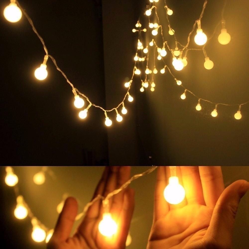 a16feb7a31dd2 luces de navidad led - esferas - 4.5 metros - multicolor. Cargando zoom.